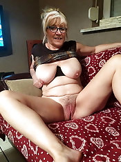 Fantastic aged MILF puts on provocative panties