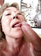 Chubby older lass was drilled