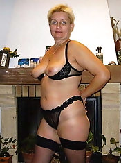 Concupiscent mature mamas are posing naked on camera