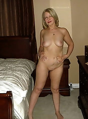 MILF enjoys a big boner