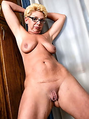 Slim mature MILFs are getting seminaked